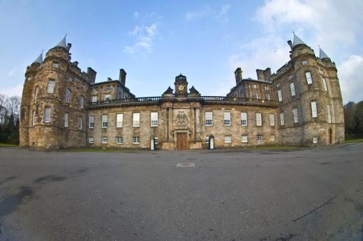 Holyrood Palace, as seen through my oh-so-fun fisheye