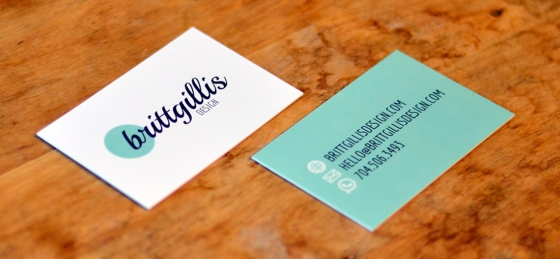 My own branding illustrated on my business cards