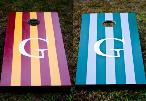 """A """"Quidditch"""" Set, our wedding present to the happy couple"""