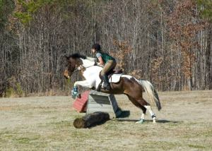 Before: Our first XC school in Feb 2012. Note tiny jump and horrible release