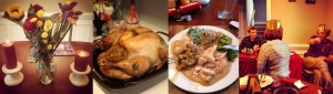 Thanksgiving: Centerpieces, Good food, and English Christmas Cracker Crowns