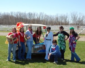 The traditional Golf Cart challenge at Nationals (yes, that's me in the Elvis get-up)