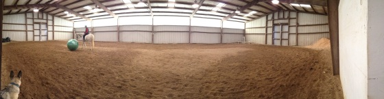 Indoor arena at the new facility