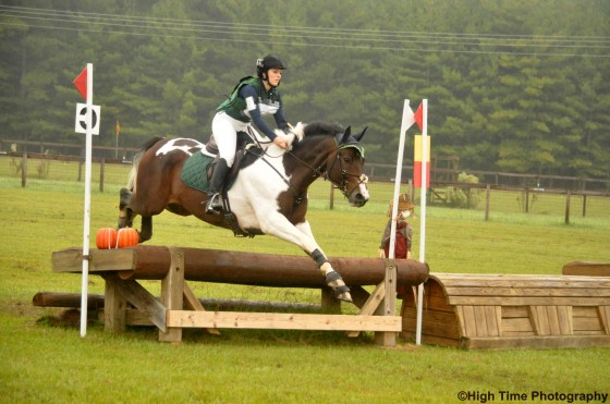 Breezing over fence 3