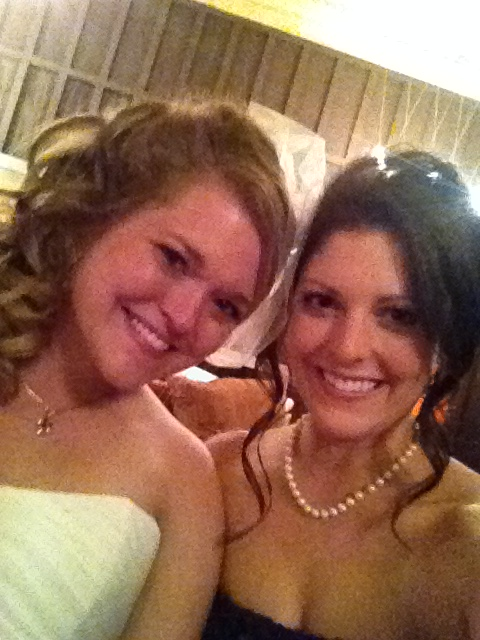 Selfie with the bride!