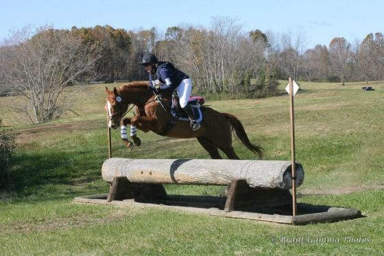 J rocking the Novice course at VHT last year / PC: Brant Gamma Photos
