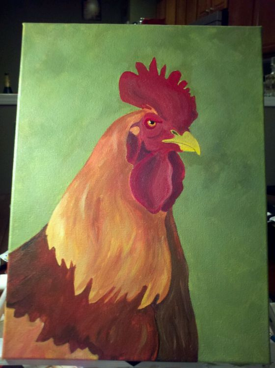 Rooster painting that I would love to truly finish one day!