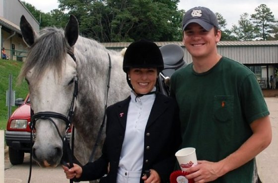 The early days- dressage shows with Ivan