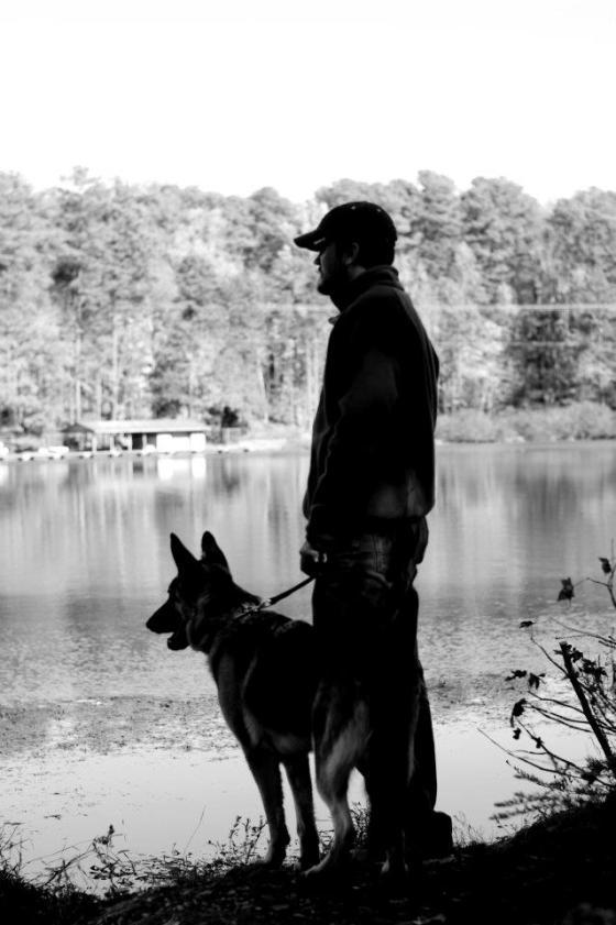 Husband and the dog