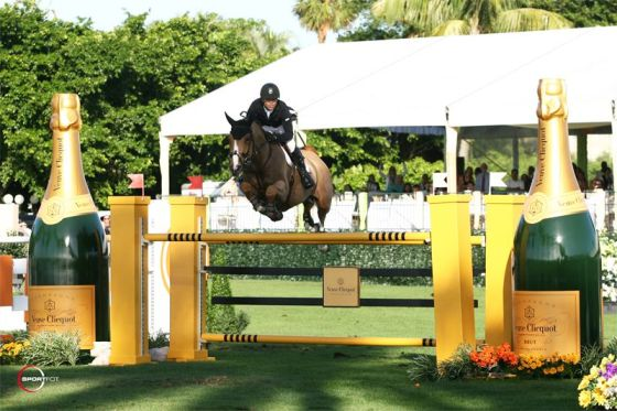 Of course there would be Champagne jumps at the Trump Invitational Grand Prix.. caviar, anyone?