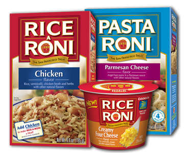 Ah yes, my old friends, Rice-a-roni and Chef Boyardee