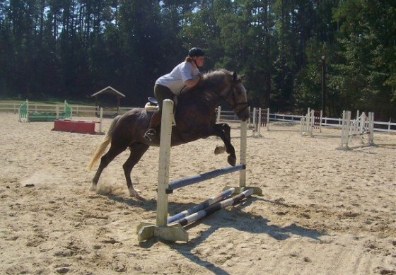Bette riding Ivan when I was recovering from the fractured ankle