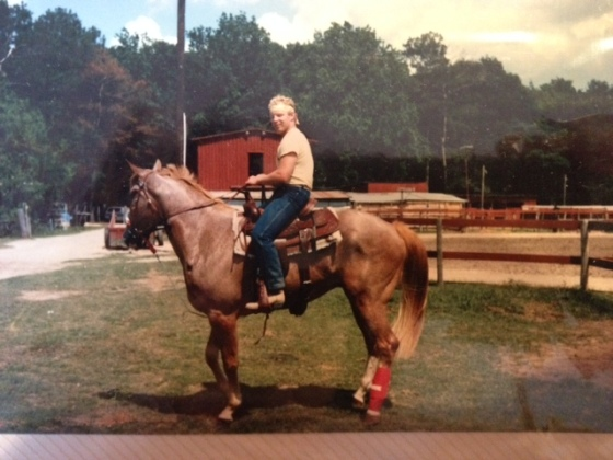 Bonus- while stopping by my parent's house I found this gem of my father riding, circa mid 1980s