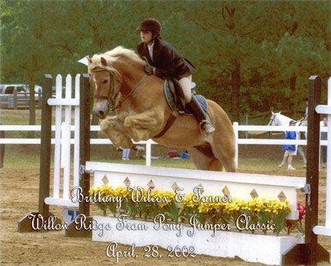 "Competing Tanner in the 2'6"" Pony Jumpers"