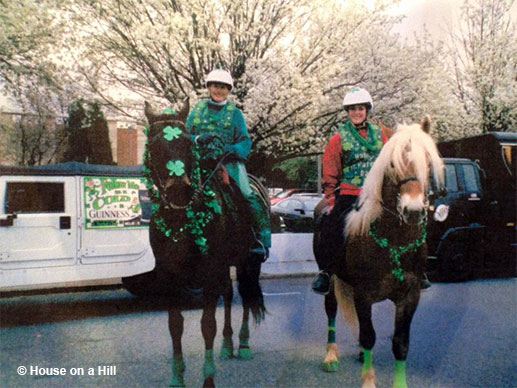 Riding Mac in the St. Patrick's Day Parade in downtown Charlotte, NC