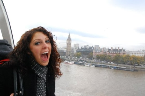 Curly hair in action in London, because, you know, rain.