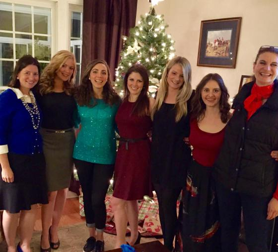 A photo from our Christmas party this weekend- gotta love being surrounded by such fun horsewomen!