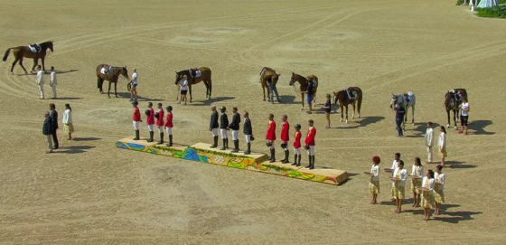 All different sizes and riders represented, except if you're a German male showjumper, then you must be the size of an NBA player